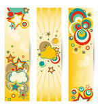 Set of colorful banners . Royalty Free Stock Photo