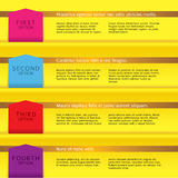 Set of Colorful Banners. Set of Colorful Banners With Option Number Vector Illustration
