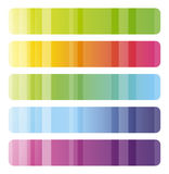 Set of colorful  banners Stock Image