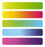 Set of colorful  banners. Abstract design - backgrounds for Business Stock Photos