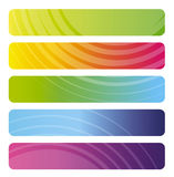 Set of colorful  banners Stock Photography