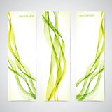 Set of colorful  banners with curved lines. Vector Stock Image