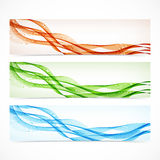 Set of colorful banners with curved lines. Vector Royalty Free Stock Photo