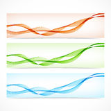 Set of colorful banners with curved lines. Vector Royalty Free Stock Photos