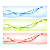 Set of colorful banners with curved lines. Vector Royalty Free Stock Image
