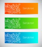 Set of colorful banners with decorative circles. Vector illustration Royalty Free Stock Photography