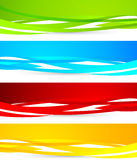 Set of colorful banners Royalty Free Stock Photos