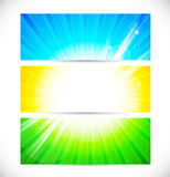 Set of colorful banners Royalty Free Stock Photography