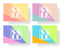 Set of colorful banners, flyers, posters for sale. Elements of infographics, vector illustration Stock Photography