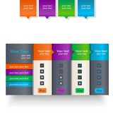 Set of colorful banners. On a light background Royalty Free Stock Photo