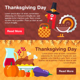 Set of colorful banners for thanksgiving Royalty Free Stock Photography