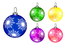 Set of colorful baubles Stock Image