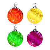 Set of colorful baubles. On white background with shadows vector illustration