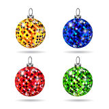 Set of colorful baubles Royalty Free Stock Photography