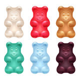 Set of colorful beautiful gummy bears Royalty Free Stock Image