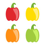 Set Colorful Bell Peppers Isolated Royalty Free Stock Images