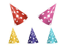 Set of Colorful Birthday Hats Stock Photo
