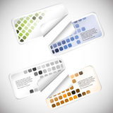 Set of Colorful Blank Rectangular Labels Royalty Free Stock Image