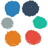 Set of colorful blots Stock Photography