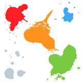 Set of colorful blots Royalty Free Stock Image