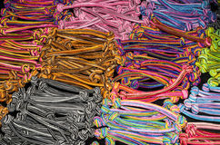 Set of colorful bobble hair bands background.  Stock Images