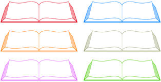 Set colorful book Stock Photo