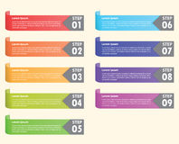 Set of colorful bookmarks, Infographics background Stock Image