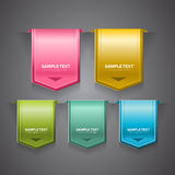 Glossy Labels. A set of colorful bookmarks, labels, stickers or indicators Royalty Free Stock Images