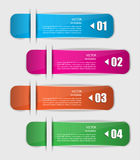 Set of colorful bookmarks, stickers. Four options of stickers for your design Stock Photos
