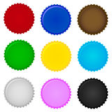 Set of colorful bottle caps. Vector Royalty Free Stock Photos