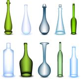 Set colorful bottle in different form. Vector Royalty Free Stock Images