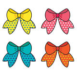 Set Of Colorful Bow Royalty Free Stock Images