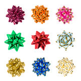 Set of colorful bows Stock Photography
