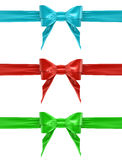 A set of colorful bows Royalty Free Stock Image