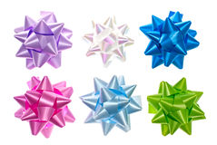 Set of colorful bows. Stock Image