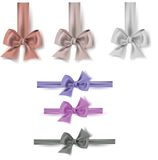 Set of colorful bows. Accessories for gifts, greetings,banners Royalty Free Stock Image