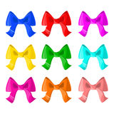 Set of colorful bows Decoration Vector isolated Stock Photo
