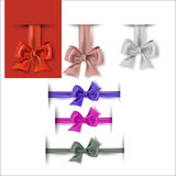 Set of colorful bows. Decorations for gifts, greetings Royalty Free Stock Image