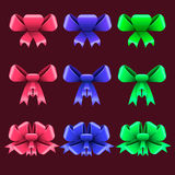 Set with colorful bows Royalty Free Stock Image