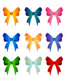 Set of colorful bows Stock Images