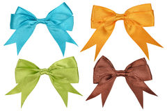 Set of colorful bows Stock Image