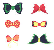 Set with Colorful Bowties Stock Photo