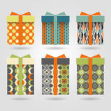 Set of colorful boxes. Bright packaging: boxes for gifts Royalty Free Stock Photo