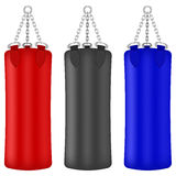 Set of Colorful Boxing Bags Stock Photography