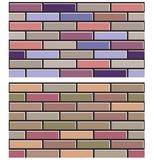 Set of  colorful brick wall textures collection background pattern Stock Image