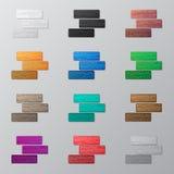 Set of colorful bricks Stock Photo