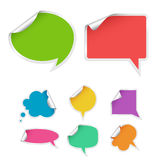 Set of colorful bubbles for speech. Vector Illustration Stock Image