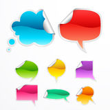 Set of colorful bubbles for speech. Vector Illustration Royalty Free Stock Photo