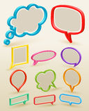 Set of colorful bubbles for speech Royalty Free Stock Photo