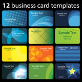 Set of Colorful Business Card Backgrounds Royalty Free Stock Images